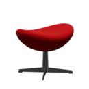 Egg Footstool, Divina, Divina 623 - Red, Black