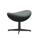 Egg Footstool, Hallingdal 65, 130 - Grey, Black