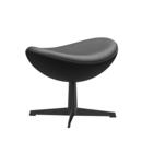 Egg Footstool, Leather Essential, Black, Black