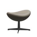 Egg Footstool, Leather Essential, Light grey, Black