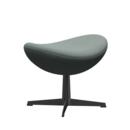Egg Footstool, Re-wool, 868 - Light aqua / natural, Black