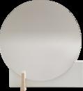 Hoffmann Mirror, White / waxed ash