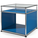 USM Haller Side Table with Extension, Gentian blue RAL 5010