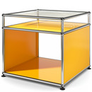 USM Haller Side Table with Extension, Golden yellow RAL 1004