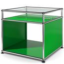 USM Haller Side Table with Extension, USM green