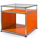 USM Haller Side Table with Extension, Pure orange RAL 2004