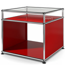 USM Haller Side Table with Extension, USM ruby red