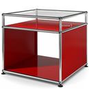 USM Haller Side Table with Extension, USM ruby red