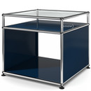USM Haller Side Table with Extension, Steel blue RAL 5011
