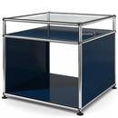 USM Haller Side Table with Extension, Steel blue RAL 5011