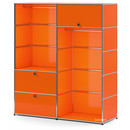 USM Haller Clothes Rack L with 2 Hanging Rails, Pure orange RAL 2004