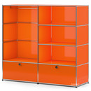 USM Haller Clothes Rack L with Rail, Pure orange RAL 2004
