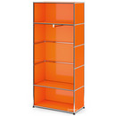 USM Haller Clothes Rack M with Rail, Model I, Pure orange RAL 2004