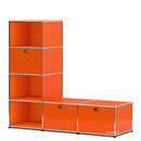 USM Haller Clothes Rack/Bench, Pure orange RAL 2004