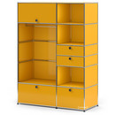 USM Haller Wardrobe Model I, Golden yellow RAL 1004