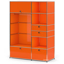 USM Haller Wardrobe Model I, Pure orange RAL 2004