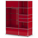 USM Haller Wardrobe Model I, USM ruby red