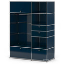 USM Haller Wardrobe Model I, Steel blue RAL 5011