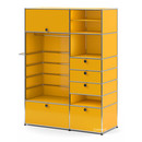 USM Haller Wardrobe Model II, Golden yellow RAL 1004