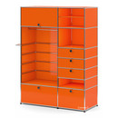 USM Haller Wardrobe Model II, Pure orange RAL 2004