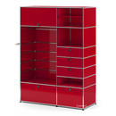USM Haller Wardrobe Model II, USM ruby red