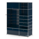 USM Haller Wardrobe Model II, Steel blue RAL 5011