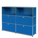 USM Haller Highboard L with 4 Drop-down Doors, Gentian blue RAL 5010