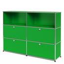 USM Haller Highboard L with 4 Drop-down Doors, USM green
