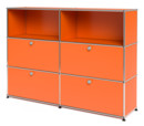 USM Haller Highboard L with 4 Drop-down Doors, Pure orange RAL 2004
