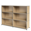 USM Haller Highboard L, Customisable, USM beige, Open, Open, Open