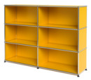 USM Haller Highboard L, Customisable, Golden yellow RAL 1004, Open, Open, Open