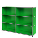 USM Haller Highboard L, Customisable, USM green, Open, Open, Open