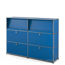USM Haller Highboard L with Angled Shelves, Gentian blue RAL 5010
