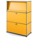 USM Haller Highboard M with Angled Shelf, Golden yellow RAL 1004