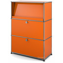 USM Haller Highboard M with Angled Shelf, Pure orange RAL 2004