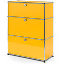USM Haller Storage Unit with 3 Drawers, H 95 + 4 x W 75 x D 35 cm, Golden yellow RAL 1004