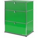 USM Haller Storage Unit with 3 Drawers, H 95 + 4 x W 75 x D 50 cm, USM green