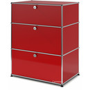 USM Haller Storage Unit with 3 Drawers, H 95 + 4 x W 75 x D 50 cm, USM ruby red