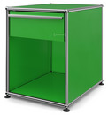 USM Haller Bedside Table with Drawer, USM green, Large (H 54 x W 42,5 x D 53 cm)