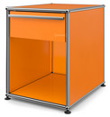USM Haller Bedside Table with Drawer, Pure orange RAL 2004, Large (H 54 x W 42,5 x D 53 cm)
