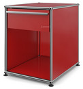 USM Haller Bedside Table with Drawer, USM ruby red, Large (H 54 x W 42,5 x D 53 cm)