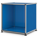 USM Haller Side Table Open, Gentian blue RAL 5010