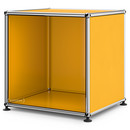 USM Haller Side Table Open, Golden yellow RAL 1004