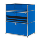 USM Haller Surgery Sideboard, Gentian blue RAL 5010, All compartments with a lock