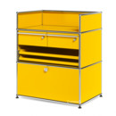 USM Haller Surgery Sideboard, Golden yellow RAL 1004, All compartments with a lock