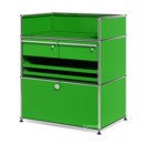 USM Haller Surgery Sideboard, USM green, All compartments with a lock