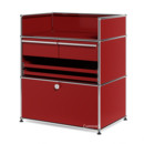 USM Haller Surgery Sideboard, USM ruby red, No locks