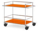 USM Haller Surgery Trolley, With bars, Pure orange RAL 2004