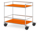 USM Haller Surgery Trolley, Without bar, Pure orange RAL 2004
