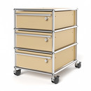 USM Haller Mobile Pedestal with 3 Drawers Type I (with Counterbalance), All compartments with a lock, USM beige
